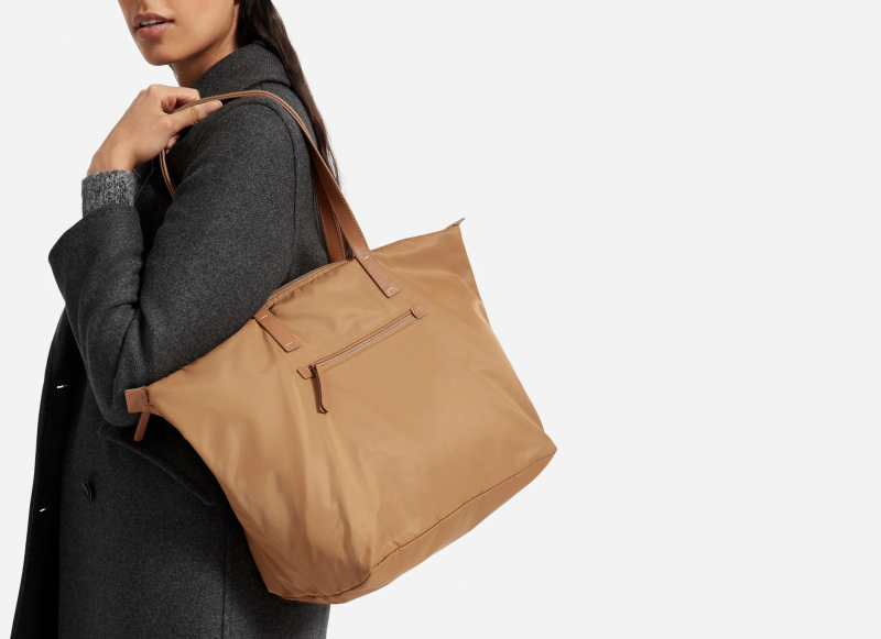 The Everlane ReNew Traveler Tote in Toasted Coconut