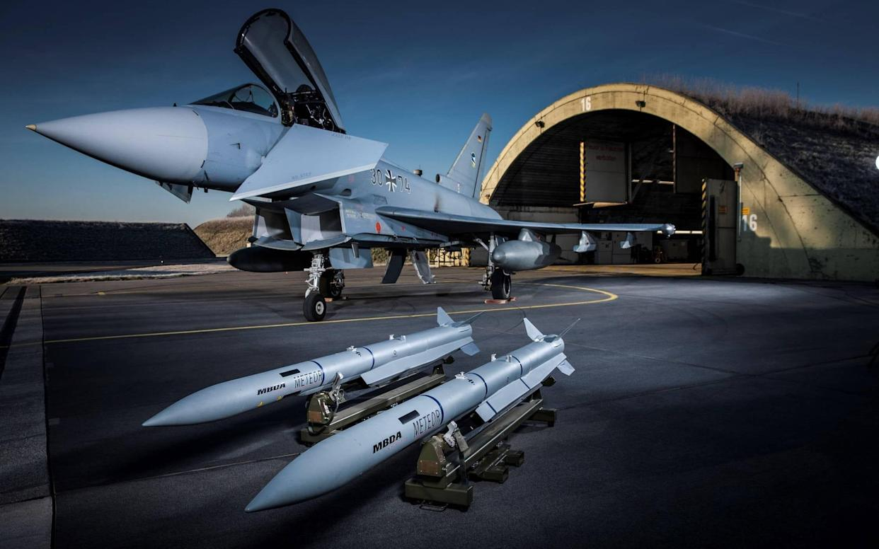 Only 39 of Germany's 128 Eurofighter jets were available for combat or training last year - © MBDA