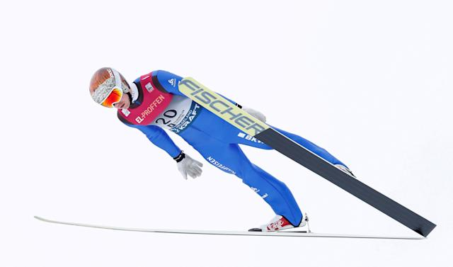 FIS Nordic Combined World Cup - Men's Gundersen LH HS134/10.0 K - Oslo, Norway - March 10, 2018 Swiss Tim Hug in action. Terje Bendiksby/NTB Scanpix/via REUTERS ATTENTION EDITORS - THIS IMAGE WAS PROVIDED BY A THIRD PARTY. NORWAY OUT.