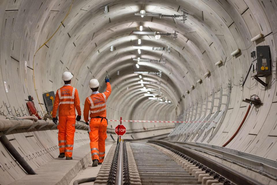 The Crossrail project for a new Elizabeth Line is behind schedule. Photo: Dominic Lipinski/PA Wire/PA Images