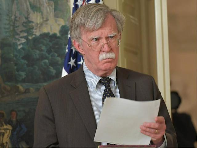 US national security adviser John Bolton was chairman of 'anti-Muslim' think tank