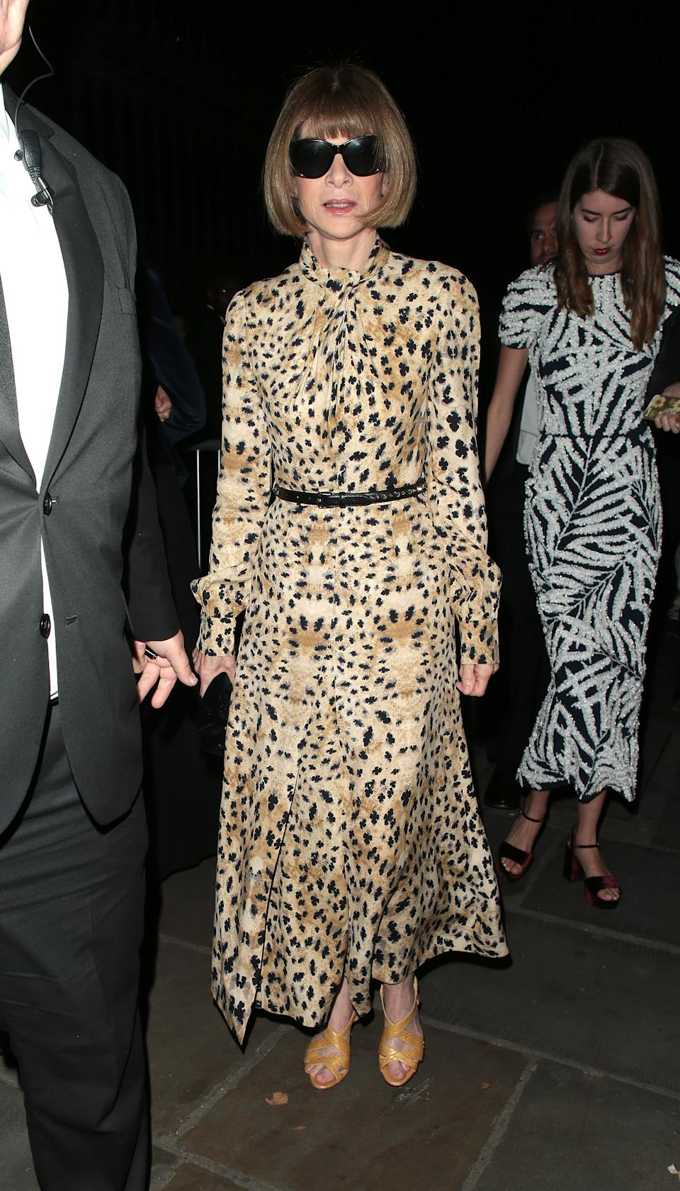 Anna Wintour attending the Fashion For Relief show during London Fashion Week [Photo: Getty Images]