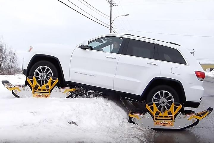 Bolt On Tracks Turn Jeeps Into Snowmobiles In 15 Minutes
