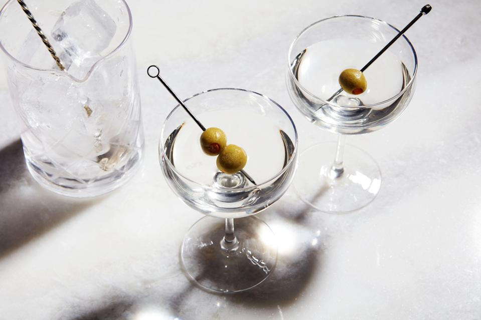 """When our senior editor, Maggie Hoffman, wrote her <a href=""""https://www.epicurious.com/expert-advice/martini-cocktail-guide-recipes-variations-ingredients-new-gins-vermouths-article?mbid=synd_yahoo_rss"""" rel=""""nofollow noopener"""" target=""""_blank"""" data-ylk=""""slk:guide to the martini"""" class=""""link rapid-noclick-resp"""">guide to the martini</a> for 2020, she had no idea how many of these cocktails you all would be at home sipping. And you still have time, before the year is out, to figure out your signature version. <a href=""""https://www.epicurious.com/recipes/food/views/classic-dry-martini-237574?mbid=synd_yahoo_rss"""" rel=""""nofollow noopener"""" target=""""_blank"""" data-ylk=""""slk:See recipe."""" class=""""link rapid-noclick-resp"""">See recipe.</a>"""
