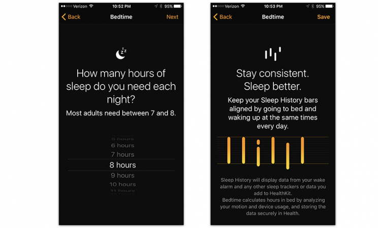 Now, the Clock app cares for your health.