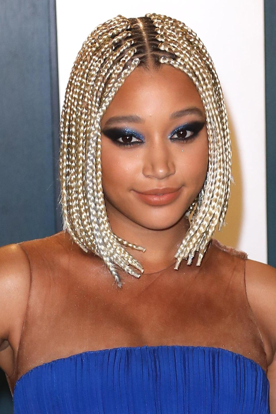 <p>Amandla Stenberg wore their hair in a braided bob style at the 2020 <b>Vanity Fair</b> Oscars party and looked amazing. </p>