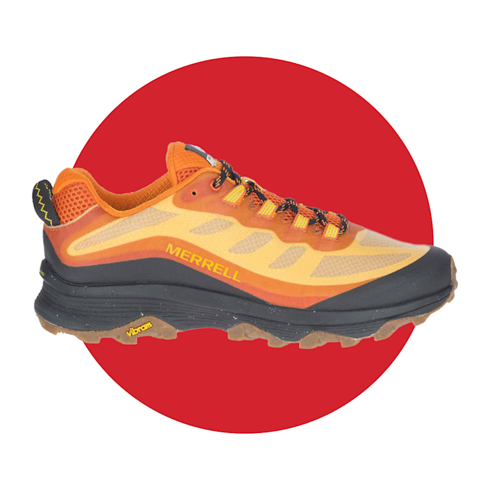 """<p><strong>Sign Up For Email</strong></p><p>merrell.com</p><p><strong>$120.00</strong></p><p><a href=""""https://go.redirectingat.com?id=74968X1596630&url=https%3A%2F%2Fwww.merrell.com%2FUS%2Fen%2Fmoab-speed%2F48691M.html&sref=https%3A%2F%2Fwww.menshealth.com%2Ftechnology-gear%2Fg36954813%2Fmens-health-outdoor-awards-2021%2F"""" rel=""""nofollow noopener"""" target=""""_blank"""" data-ylk=""""slk:BUY IT HERE"""" class=""""link rapid-noclick-resp"""">BUY IT HERE</a></p><p>Take it from us—hiking sneakers make all the difference. When you've got a pair with the right amount of tread to grip on to any type terrain, you'll be able to enjoy your hikes longer (and get into the more challenging ones, if that's your kind of thing). Merrell's are built with lightweight materials for comfort and an air sole for added stability, which will help you take on any trail.</p>"""