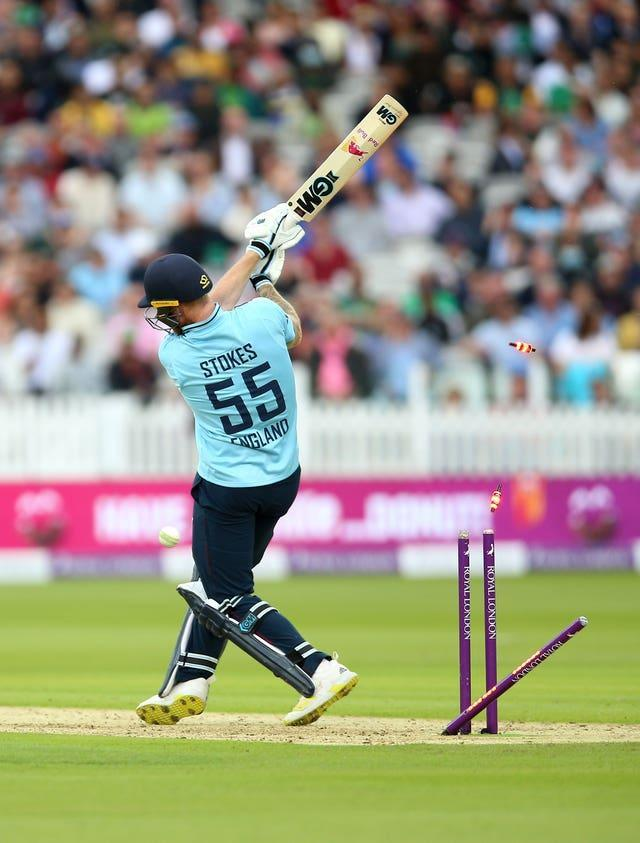 England captain Ben Stokes made 22 before he was bowled
