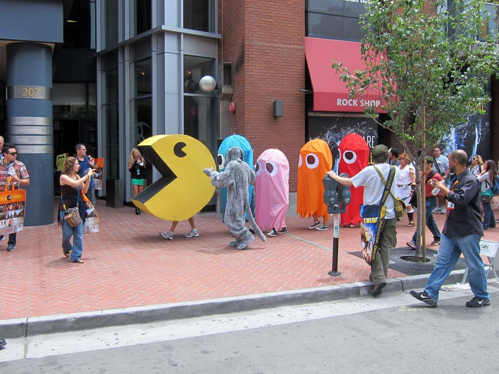 A game of Pac-Man on the street's of San Diego's Gaslamp District - San Diego Comic-Con 2012
