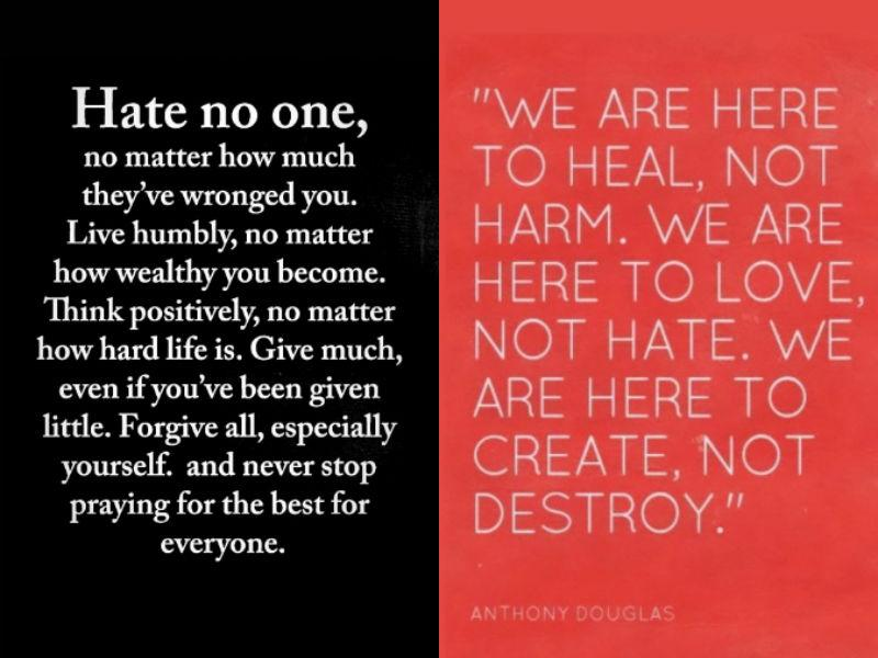 Kardashian posted a couple of quotes about hate on her Instagram story. (Photo: Instagram)