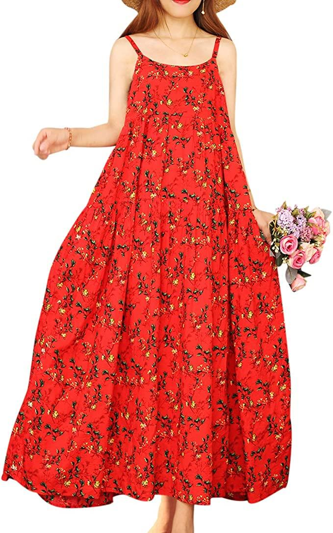 YESNO Bohemian Floral Print Empire Waist Dress (Photo: Amazon)