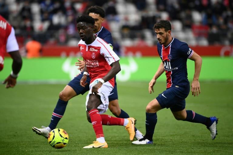 Alessandro Florenzi (R) in action for Paris Saint-Germain last weekend against Reims. The Italian is the only new face to have joined PSG's squad for this season so far