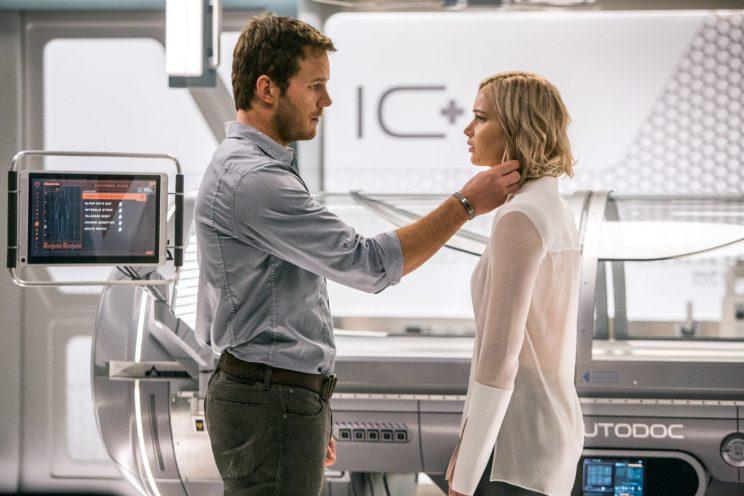 A lesson... Chris Pratt has spoken about 'those' Passengers reviews - Credit: Columbia Pictures