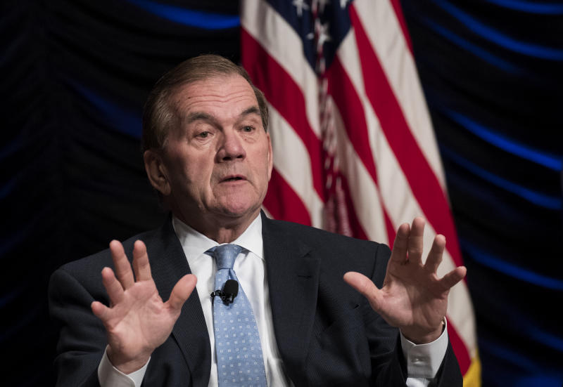 WASHINGTON, DC - MARCH 1: Former Department of Homeland Security Secretary Tom Ridge speaks during an event to mark the 15th anniversary of the Department of Homeland Security, March 1, 2018 in Washington, DC. The Department of Homeland Security was created after the September 11 attacks and the agency combined 22 various federal departments and agencies into one integrated cabinet agency. (Photo by Drew Angerer/Getty Images)