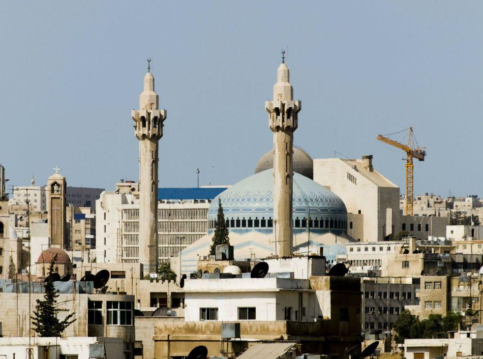 <b>AMMAN, JORDAN:</b> The King Abdullah I Mosque in Amman, Jordan was built between 1982 and 1989.