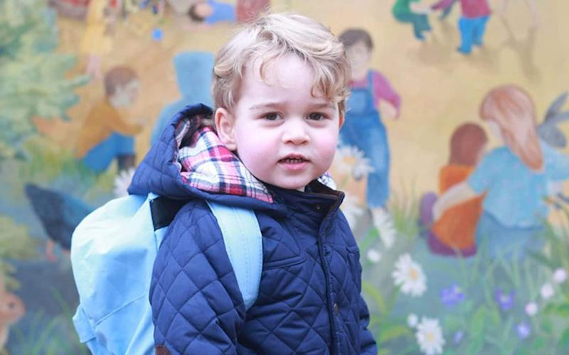 Prince George on his first day at nursery