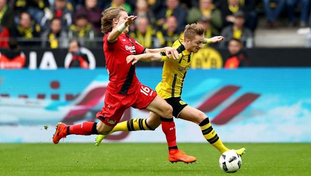 <p>Marco Reus is curious. Undoubtedly a superlative player, he is now arguably Dortmund's most experienced man, only denied further club and international stardom (and maybe a big move?) by injuries as consistently saddening, as he is consistently brilliant. </p> <br><p>He's a club talisman, and now vice-captain behind left back Marcel Schmelzer, and it's telling that back to back managers in Jurgen Klopp and Thomas Tuchel have valued him highly enough to build their teams around him. </p>