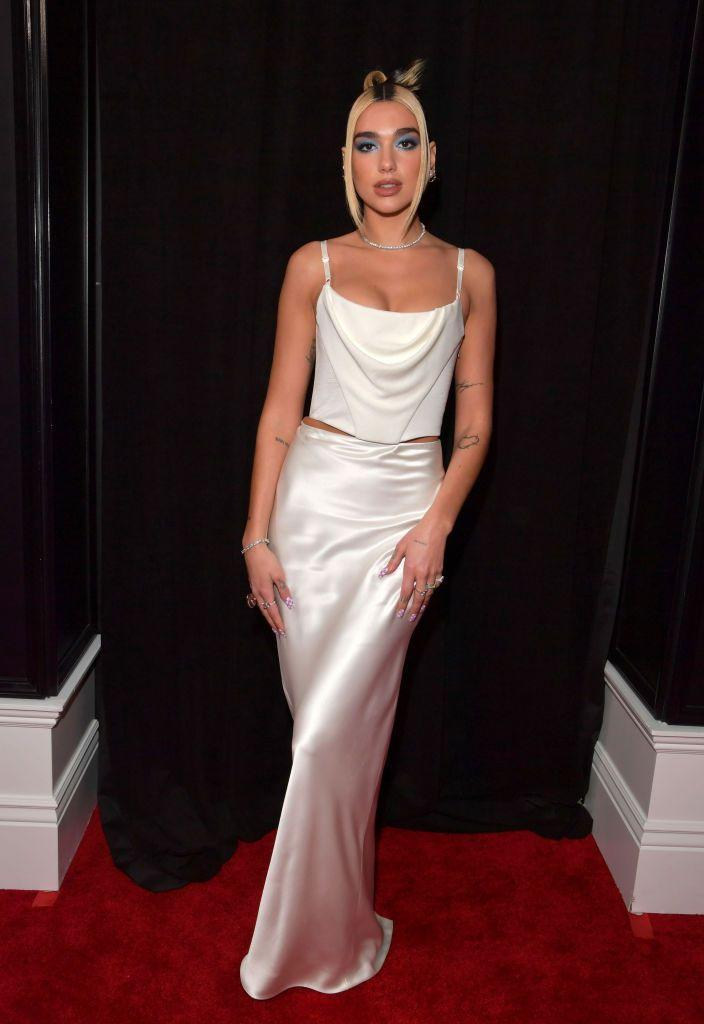 <p>Lipa wore an Alexander Wang two-piece to the 62nd Annual GRAMMY Awards.</p>