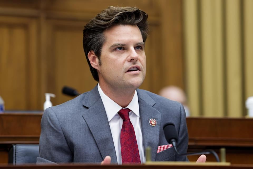 Matt Gaetz speaks during the House Judiciary Subcommittee on Antitrust, Commercial and Administrative Law hearing on 29 July, 2020. (Getty Images)