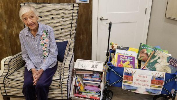 PHOTO: Betty Davis, of Buda, Texas, celebrated her 104th birthday by holding a book drive for kids. (Sodalis Buda Assisted Living & Memory Care)