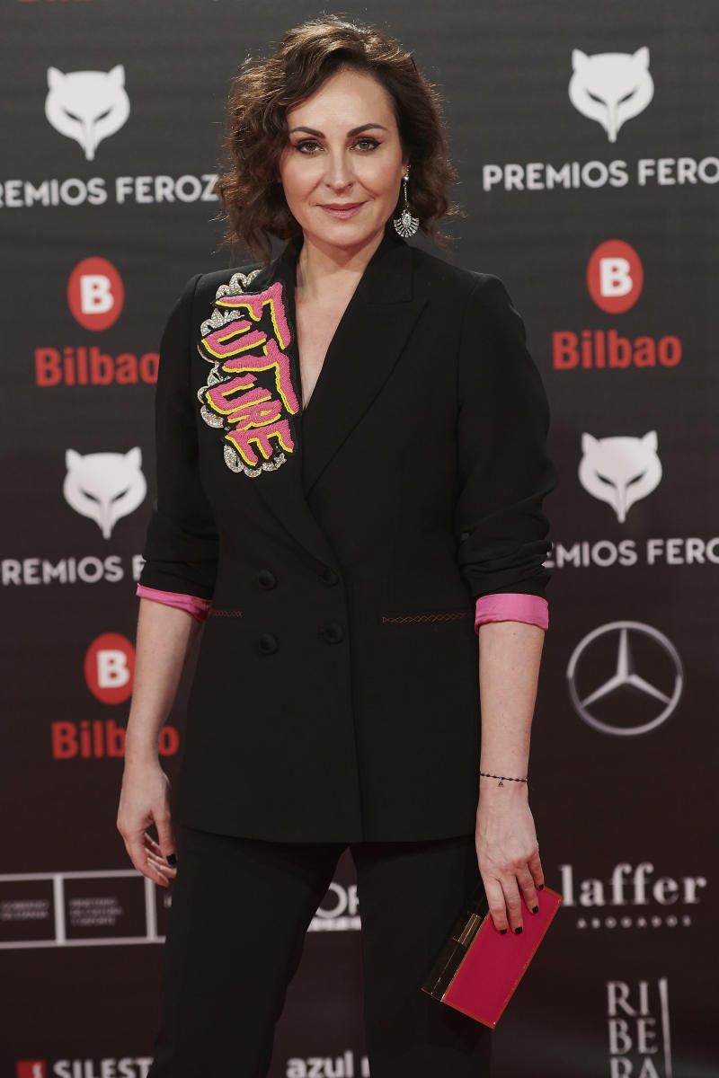 Ana Milan attends the Feroz Awards 2019 Red Carpet at Bilbao Arena in Bilbao, Spain on Jan 19, 2019 (Photo by Gabriel Maseda/NurPhoto via Getty Images)