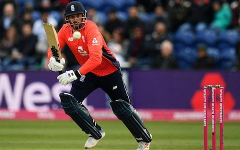 James Vince of England bats during the Twenty20 International match between England and Pakistan at Sophia Gardens on May 05, 2019 in Cardiff, United Kingdom - Credit: Getty Images
