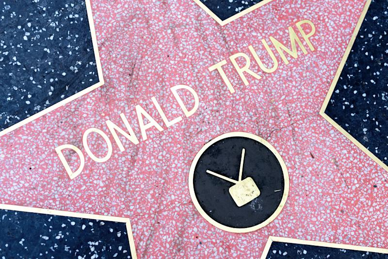 HOLLYWOOD, CA - DECEMBER 06: Donald Trump star on the Hollywood Walk of Fame in Hollywood, California on Dec. 6, 2016.