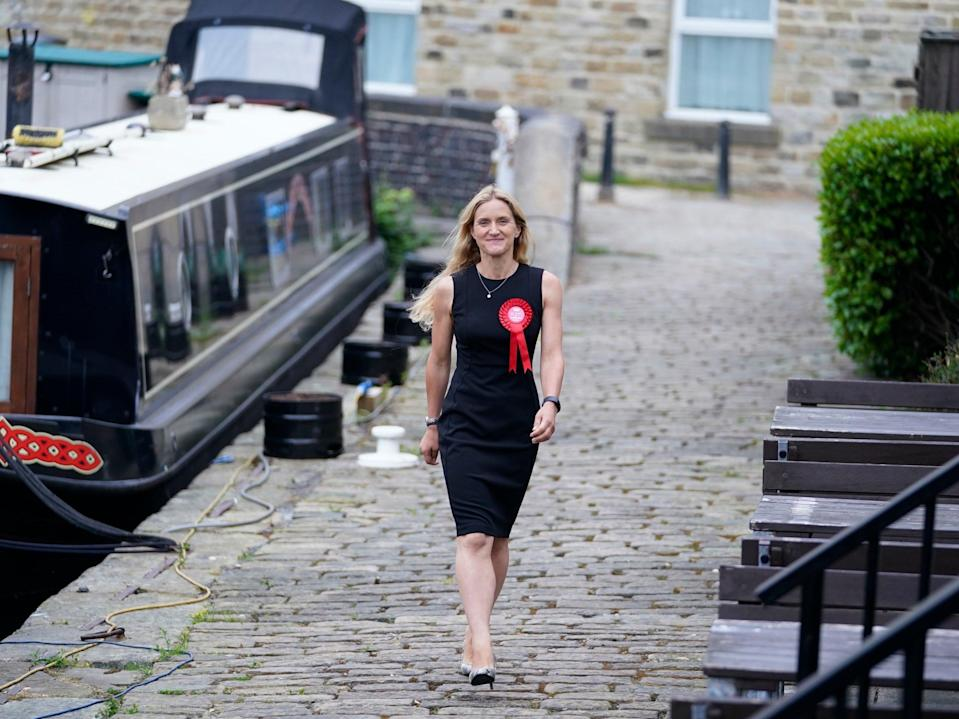 Kim Leadbeater, a strong local candidate, who won what should have been a Conservative seat (PA)