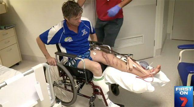 Tim Stubenrauch is on the road to recovery. Source: 7News