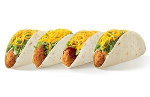 Fans can enjoy Del Taco's Crispy Chicken Tacos topped with Ranch, Spicy Habanero, Honey Mango or Honey Chipotle BBQ sauce.