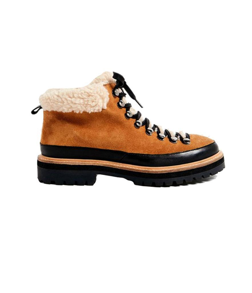 """<p>Got cold feet? Winter is no match for these cozy hiking boots. <br><a href=""""https://fave.co/2OlMTGF"""" rel=""""nofollow noopener"""" target=""""_blank"""" data-ylk=""""slk:Shop it:"""" class=""""link rapid-noclick-resp"""">Shop it:</a> Boxer Shearling Hiker Boot, $98, <a href=""""https://fave.co/2OlMTGF"""" rel=""""nofollow noopener"""" target=""""_blank"""" data-ylk=""""slk:urbanoutfitters.com"""" class=""""link rapid-noclick-resp"""">urbanoutfitters.com</a> </p>"""