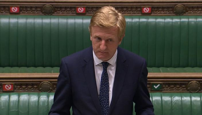 Digital, Culture, Media and Sport Secretary Oliver Dowden makes a statement to MPs in the House of Commons, London, that purchase of new 5G equipment from Chinese tech giant Huawei will be banned after December 31 and added that Huawei equipment already in the UK's 5G networks must be removed by 2027.