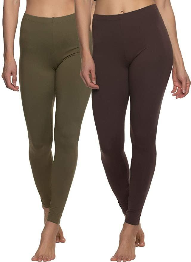 <p>You can't go wrong with these classic and durable <span>Felina Velvety Super Soft Lightweight Leggings</span> ($29-$32). They feel velvety soft, but offer so much support and coverage throughout your workout. They come in a set of two featuring gorgeous color combinations like a bright blue and rusty orange, a chocolate brown and an earthy green, and the classic black. </p>