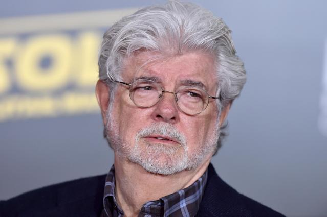 HOLLYWOOD, CA - MAY 10: Filmmaker George Lucas arrives at the premiere of Disney Pictures and Lucasfilm's 'Solo: A Star Wars Story' at the El Capitan Theatre on May 10, 2018 in Hollywood, California. (Photo by Axelle/Bauer-Griffin/FilmMagic)