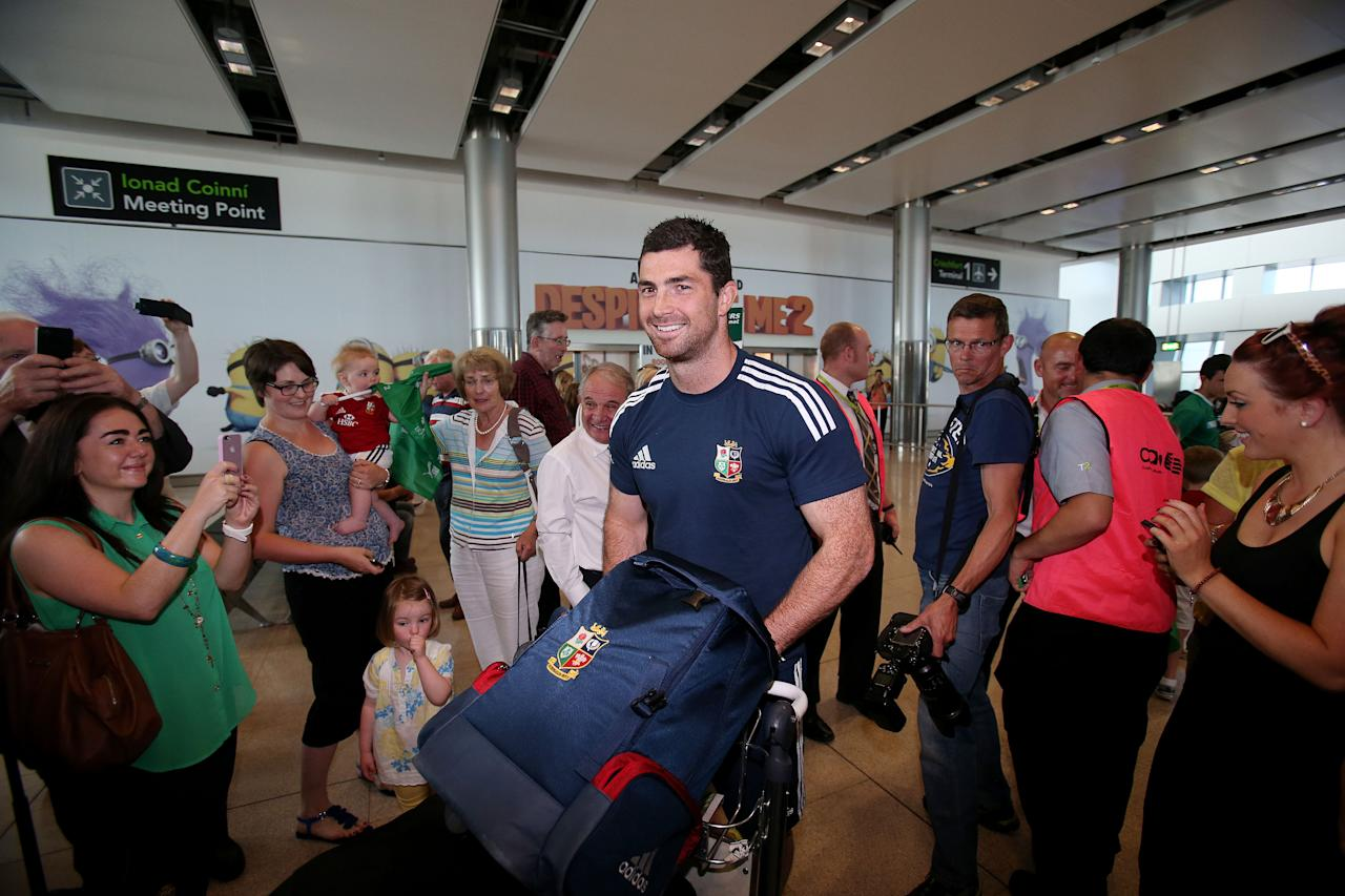 British and Irish Lions' Robert Kearney at Dublin Airport following their series win over Australia. ASSOCIATION Photo. Picture date: Wednesday July 10, 2013. See PA story RUGBYU Lions. Photo credit should read: Julien Behal/PA Wire.
