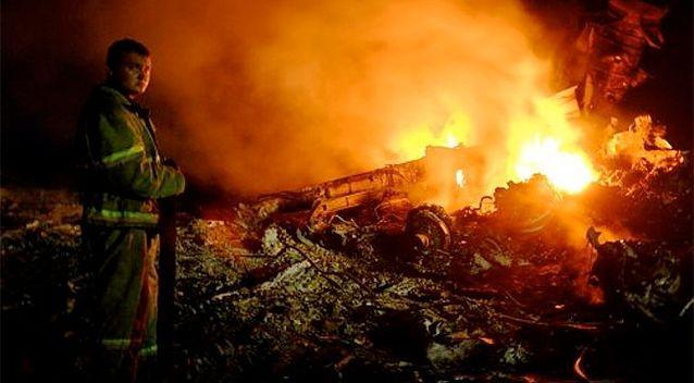 A Malaysian airliner carrying 298 people from Amsterdam to Kuala Lumpur was shot down in rebel-held east Ukraine. Photo: AFP.