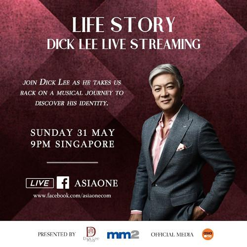 Dick Lee shares this on his social media, inviting fans to his special livestream concert.
