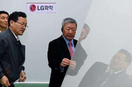 LGGroup chairman Koo Bon-moo is seen in this undated handout photo provided by LG Group on May 20, 2018.  LG Group/Handout via REUTERS