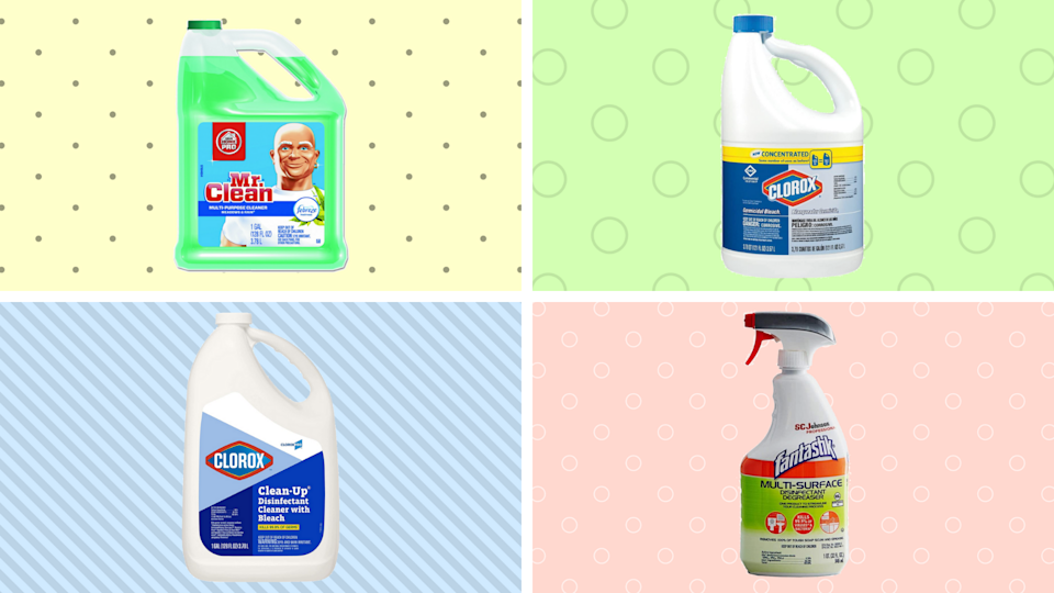Household disinfectants are available at Amazon: Shop Mr. Clean, Clorox and Fantastik. (Photo: Amazon)