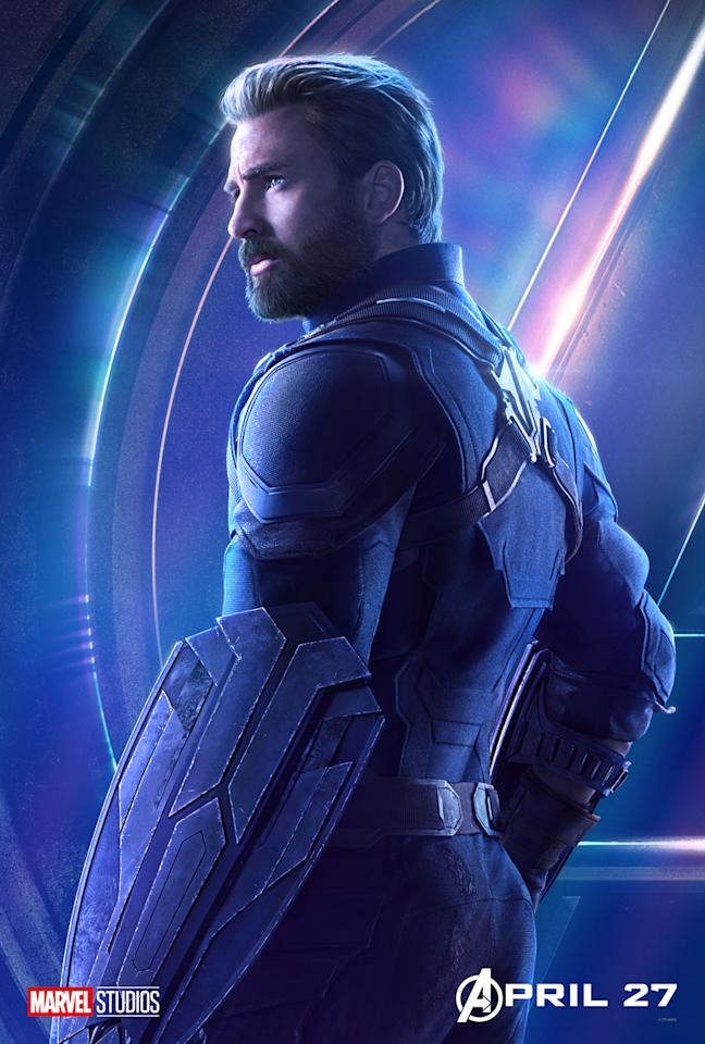 <p>Chris Evans plays the star-spangled hero who emerges from the shadows to join his fellow Avengers. (Photo: Marvel Studios) </p>