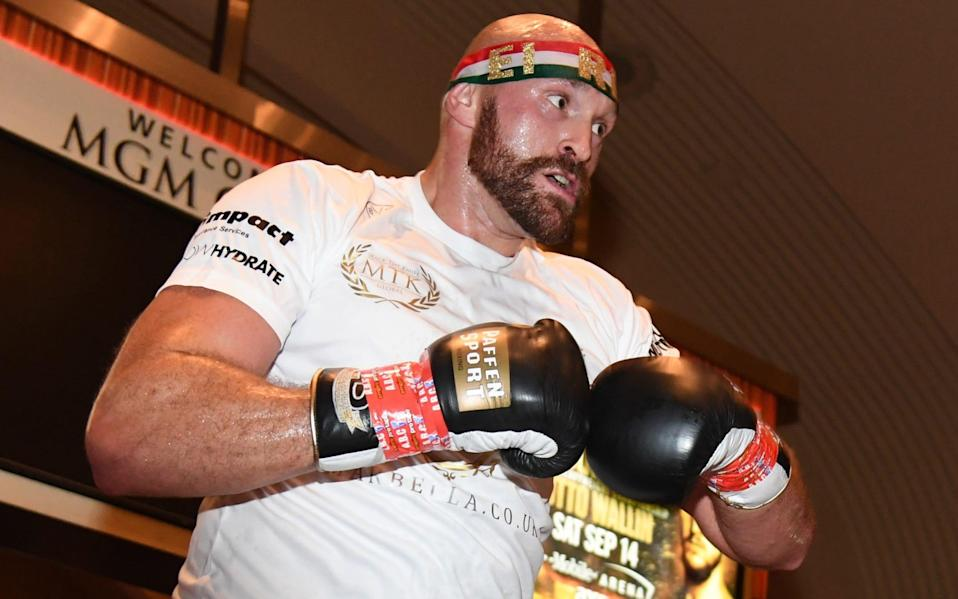Fury training in Las Vegas in 2019 - Getty Images