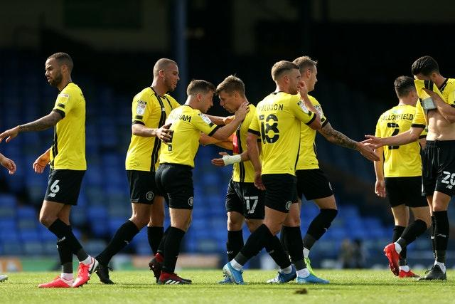 Harrogate travel to West Brom having beaten Southend 4-0 in their first ever Football League match (Steven Paston/PA).