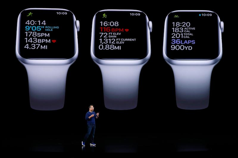 Stan Ng presents the new Apple Watch at an Apple event at their headquarters in Cupertino, California, U.S. September 10, 2019. (Photo: Stephen Lam / Reuters)