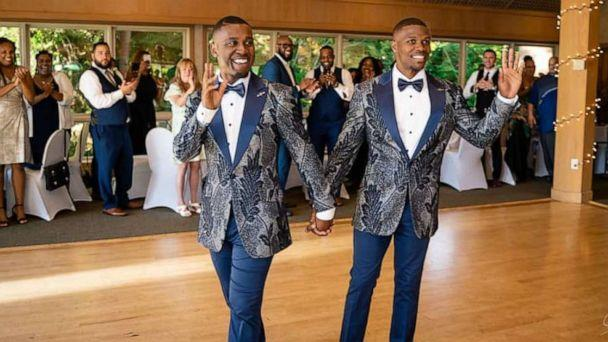 PHOTO: Taylor and Isaiah Green-Jones at their wedding reception. (Deron Patterson/Supreme Optics Photography)