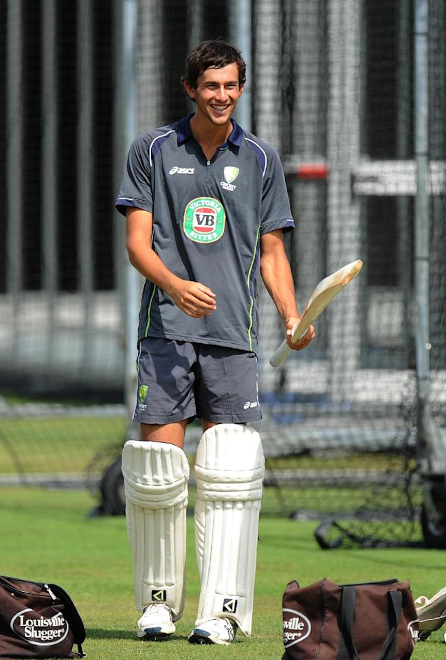 Australia's Ashton Agar during the nets session at Lord's Cricket Ground, London.
