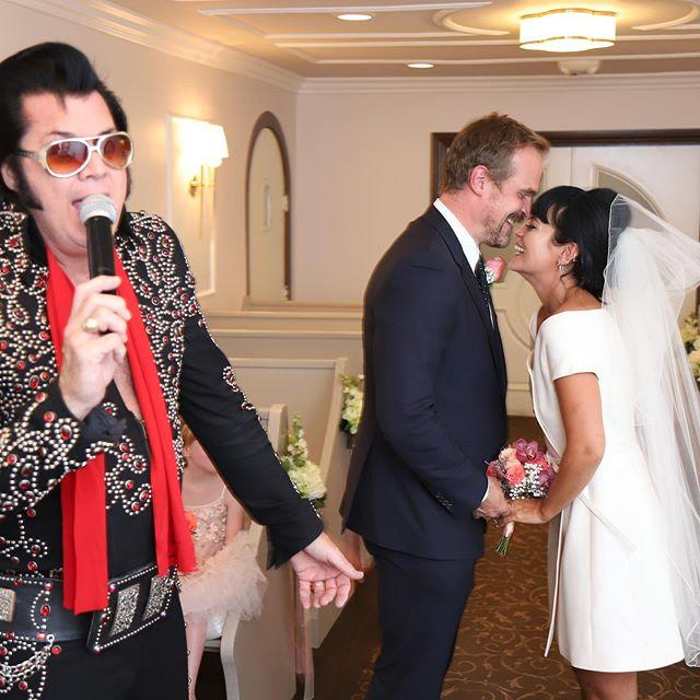 "<p><a href=""https://www.elle.com/uk/life-and-culture/a29455612/lily-allen-david-harbour-relationship/"" target=""_blank"">The couple confirmed they had married in font of an Elvis Presley impersonator and Allen's two daughters Marnie and Ethel this week</a>. Wearing a white Dior mini dress, Allen celebrated her new marriage with an In-N-Out burger following the ceremony.</p><p><a href=""https://www.instagram.com/p/CE7Go50MjCy/"">See the original post on Instagram</a></p>"