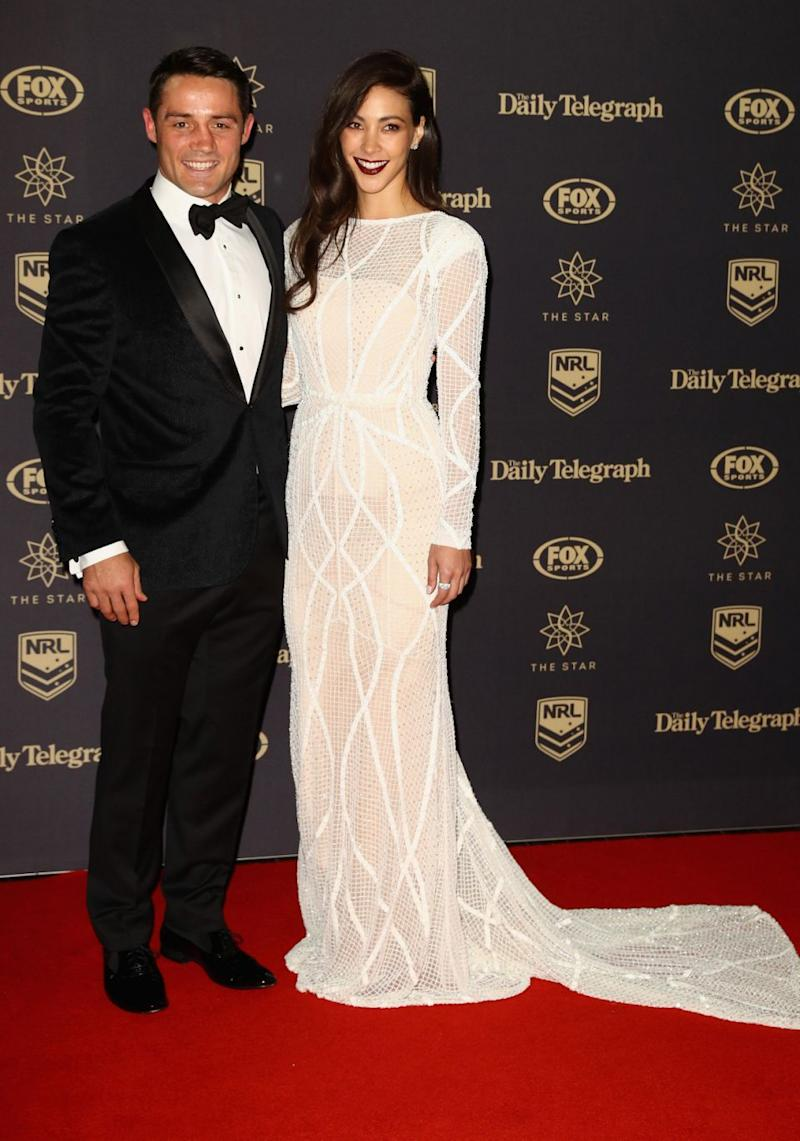 Cooper and Tara pictured at the 2016 Dally M Awards. Source: Getty