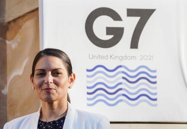 Priti Patel has been in disagreement with her French counterpart over the migrant crisis (Photo: Ian West - PA Images via Getty Images)