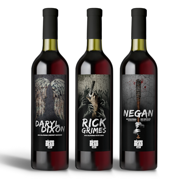 "The trio of ""Walking Dead"" wines. (Photo: Lot 18)"