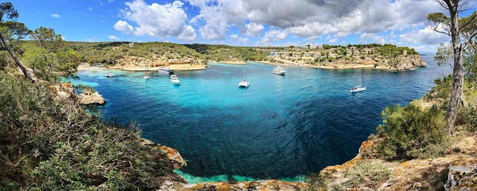 """<p>Jetsetters have found their paradise in this Spanish Baeleric island for decades, thanks to its azure waters, luxurious beach clubs, historic architecture, and dramatic coastline. This beautiful island offers legendary arts, culture, nightlife, and gastronomic experiences beyond the surf and shore. </p><p><a href=""""https://www.belmond.com/hotels/europe/mallorca/deia/belmond-la-residencia/"""" rel=""""nofollow noopener"""" target=""""_blank"""" data-ylk=""""slk:La Residencia, A Belmond Hotel"""" class=""""link rapid-noclick-resp"""">La Residencia, A Belmond Hotel</a> is the most idyllic and lavish place to make the most of a trip to Mallorca, nestled between the Mediterranean Sea and the Tramuntana Mountains.</p>"""